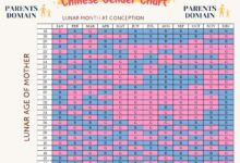 Chinese Gender Prediction Chart Parents Domain